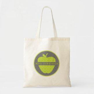Quatrefoil Apple verde personalizó el bolso del Bolsa Tela Barata