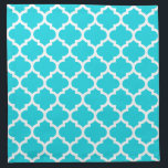 "Quatrefoil Aqua Pattern Cloth Napkins<br><div class=""desc"">Geometric, quatrefoil pattern cloth napkins in modern colors These napkins / serviettes are made in the United States from 100% cotton and are machine washable. Two sizes - 12 inch by 12 inch or 20&quot; x 20&quot; square. Perfect for dinner parties, everyday use or as the ideal gift for a...</div>"