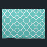 """Quatrefoil Aqua white &quot;Lighthouse Route&quot; Placemat<br><div class=""""desc"""">Style, Individualize &amp; Personalize almost anything that comes mind. Customize your whole world With A Wide Variety of Unique Zazzle Products to Choose from. Find Or Create those one-of-a-kind gifts you just cant find anywhere else. Specializing in Unique Customizable Apparel &amp; Unique Home Decor and much more. Inspired by the...</div>"""