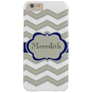 Quatrefoil Artwork and Name by Leslie Harlow Barely There iPhone 6 Plus Case