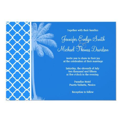 Quatrefoil azul azul; Palma del verano Comunicados