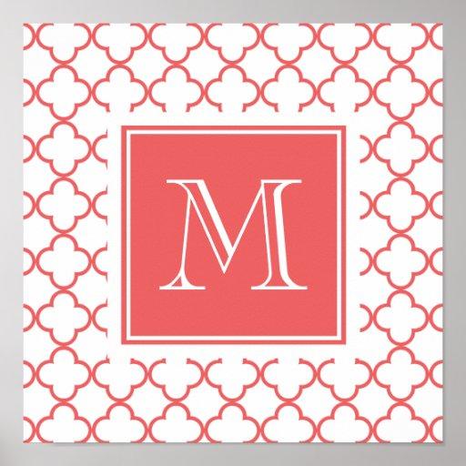 Quatrefoil blanco coralino el | su monograma