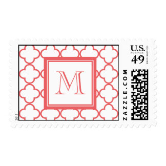 Quatrefoil blanco coralino el | su monograma sellos