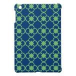 Quatrefoil Blue Green Pattern Case For The iPad Mini