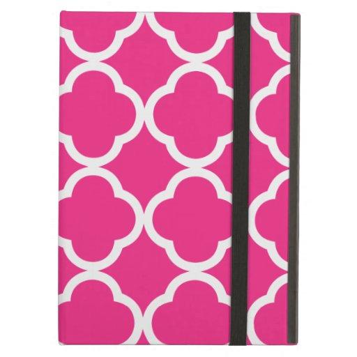 Quatrefoil Bright Pink iPad Case