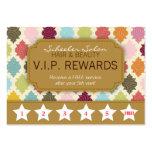 Quatrefoil colorido - la lealtad del salón recompe tarjetas de visita