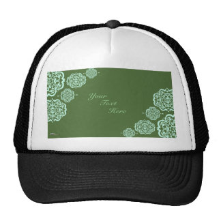 Quatrefoil Damask (Green) Trucker Hat