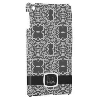 Quatrefoil Damask (Grey) iPad Mini Cover