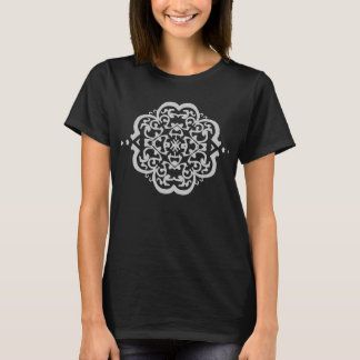 Quatrefoil Damask (Grey) T-Shirt