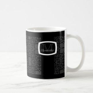 Quatrefoil Damask Classic White Coffee Mug