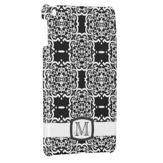 Quatrefoil Damask (White) Case For The iPad Mini