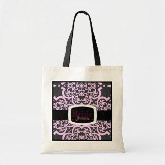 Quatrefoil Demask (Pink) Tote Bag