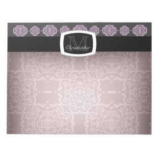 Quatrefoil Demask (rosa) Libreta Para Notas