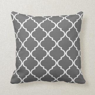 Quatrefoil DIY CHOOSE YOUR OWN COLOR | grey Throw Pillows