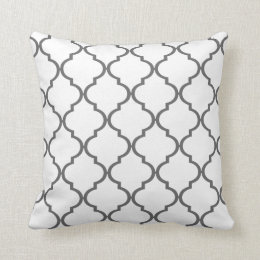 Quatrefoil DIY CHOOSE YOUR OWN COLOR | grey Throw Pillow
