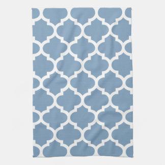 Quatrefoil Dusk Blue Kitchen Towels