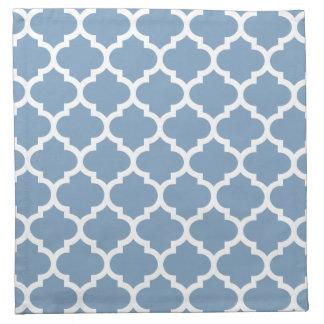 Quatrefoil Dusk Blue Pattern Cloth Napkins