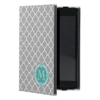 Quatrefoil gris con el marco del vintage de la men iPad mini cárcasas