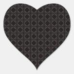 Quatrefoil Heart Stickers