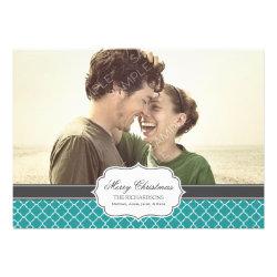 Quatrefoil Holiday Photo Card