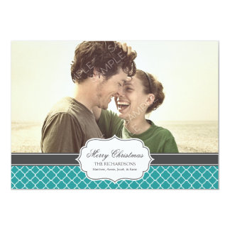 "Quatrefoil Holiday Photo Card 5"" X 7"" Invitation Card"