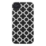 Quatrefoil iPhone 4S Case in Black and White iPhone 4 Cover
