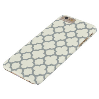 Quatrefoil iPhone 6 Plus Case in Gray