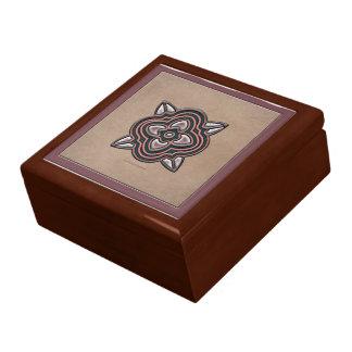 Quatrefoil Jade on Rose Gift Box
