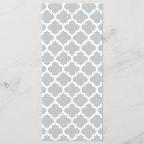 Quatrefoil Lattice Trellis Pattern Any Color