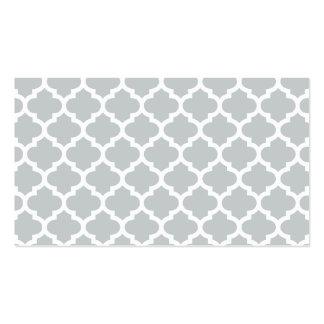 Quatrefoil Lattice Trellis Pattern Any Color Business Card Template