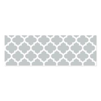 Quatrefoil Lattice Trellis Pattern Any Color Business Card