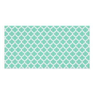 Quatrefoil Lattice Trellis Pattern Any Color Card