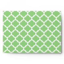 Quatrefoil Lattice Trellis Pattern Any Color Envelope