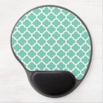 Quatrefoil Lattice Trellis Pattern Any Color Gel Mouse Pad