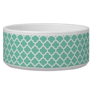 Quatrefoil Lattice Trellis Pattern Any Color Dog Water Bowl