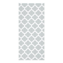 Quatrefoil Lattice Trellis Pattern Any Color Rack Card