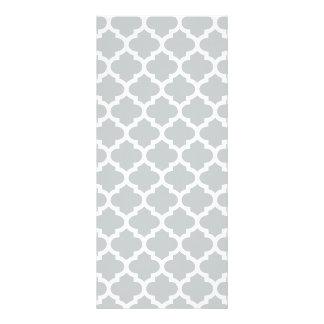 Quatrefoil Lattice Trellis Pattern Any Color Rack Card