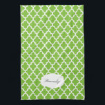 """Quatrefoil Lime Green &amp; White 