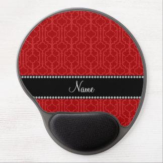 Quatrefoil marroquí rojo conocido personalizado alfombrilla de raton con gel