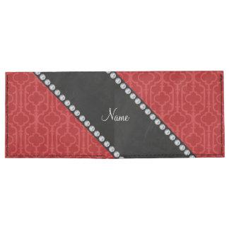 Quatrefoil marroquí rojo conocido personalizado billeteras tyvek®