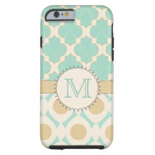Quatrefoil Monogram Mally Mac Tough iPhone 6 Case