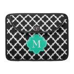 quatrefoil monogramed elegante funda macbook pro