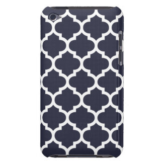 Quatrefoil Navy Blue Barely There iPod Case