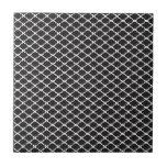 Quatrefoil negro azulejo ceramica