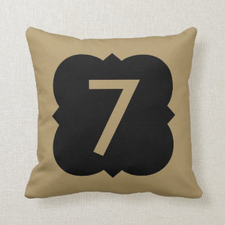 Quatrefoil: Number 7 Pillow