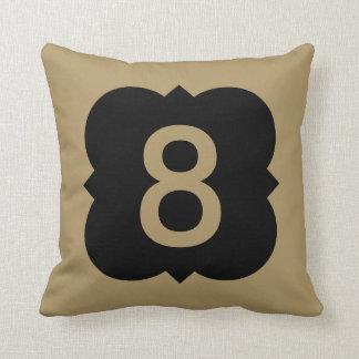 Quatrefoil: Number 8 Throw Pillow
