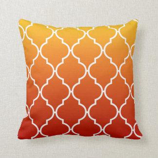 Quatrefoil Ombre Geometric sunset Pillow