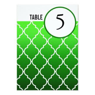 Quatrefoil Ombre Table Numbers   emerald