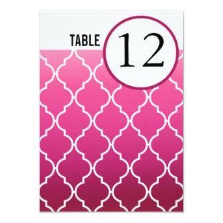 Quatrefoil Ombre Table Numbers   plum