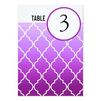 Quatrefoil Ombre Table Numbers   purple